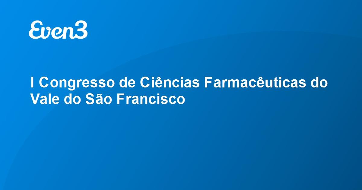 Resultado de imagem para I Congresso de Ciências Farmacêuticas do Vale do São Francisco (FARMVASF)